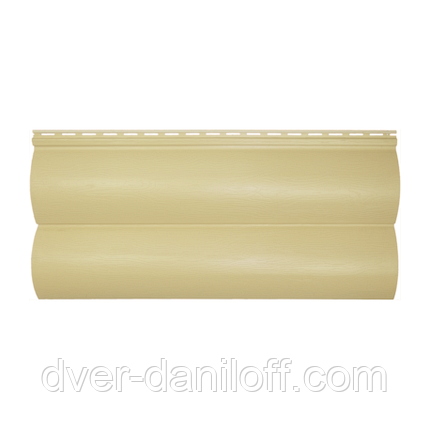 Сайдинг виниловый Альта-Профиль BlockHouse Slim двухпереломный 3660х230x11 мм лимонный, фото 2