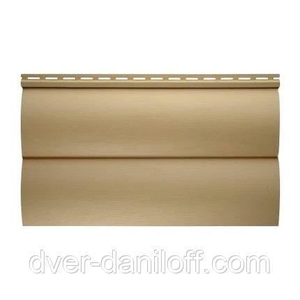 Сайдинг виниловый Альта-Профиль BlockHouse Slim двухпереломный 3660х230x11 мм песочный, фото 2