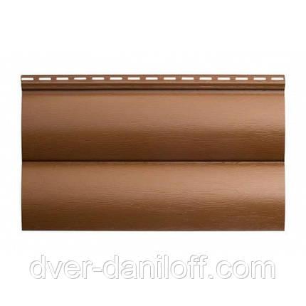 Сайдинг виниловый Альта-Профиль BlockHouse однопереломный 3100х200 мм бежевый, фото 2