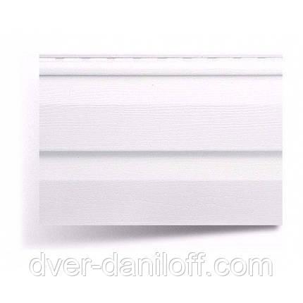 Сайдинг виниловый Альта-Профиль Alta-Siding двухпереломный 3660х230х11 мм белый, фото 2