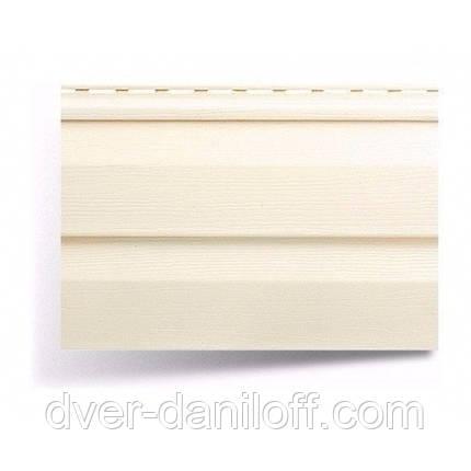 Сайдинг виниловый Альта-Профиль Alta-Siding двухпереломный 3660х230х11 мм кремовый, фото 2