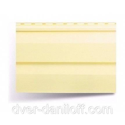Сайдинг виниловый Альта-Профиль Alta-Siding двухпереломный 3660х230х11 мм лимонный, фото 2