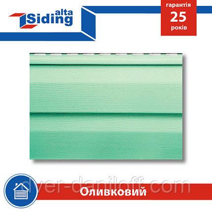 Сайдинг виниловый Альта-Профиль Alta-Siding двухпереломный 3660х230х11 мм оливковый, фото 2