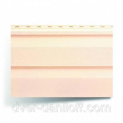Сайдинг виниловый Альта-Профиль Alta-Siding двухпереломный 3660х230х11 мм розовый, фото 2