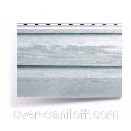 Сайдинг виниловый Альта-Профиль Alta-Siding двухпереломный 3660х230х11 мм светло-серый, фото 2
