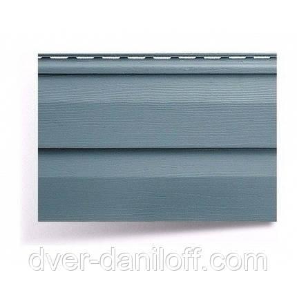 Сайдинг виниловый Альта-Профиль Alta-Siding двухпереломный 3660х230х11 мм серо-голубой, фото 2