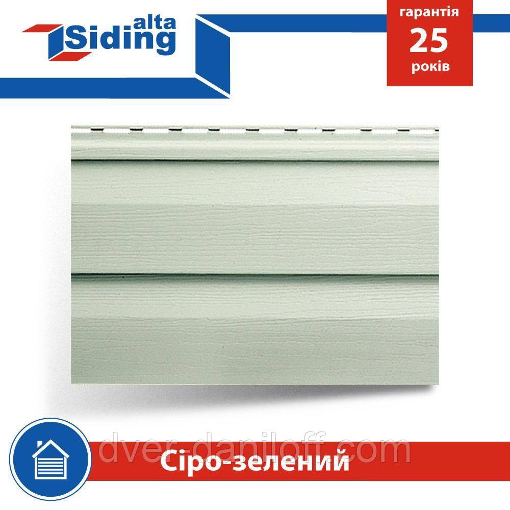 Сайдинг виниловый Альта-Профиль Alta-Siding двухпереломный 3660х230х11 мм серо-зеленый