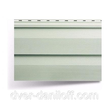 Сайдинг вініловий Альта-Профіль Alta-Siding двухпереломний 3660х230х11 мм сіро-зелений, фото 2