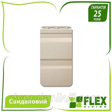 Сайдинг виниловый Альта-Профиль Flex двухпереломный 3660х230x11 мм сандаловый, фото 2