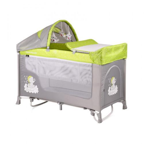 Манеж-кровать Bertoni San Remo 2L Rocker green/grey elephant