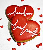 Лучший подарок на День Влюблённых - расписной медовый имбирный пряник Valentine