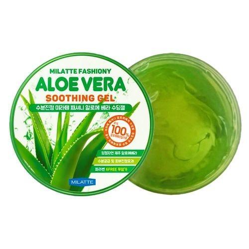 Увлажняющий многофункциональный гель для лица и тела с алоэ Milatte Fashiony Aloe Vera Soothing Gel 300 мл