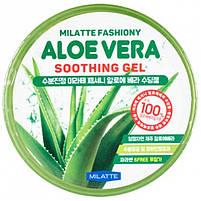 Увлажняющий многофункциональный гель для лица и тела с алоэ Milatte Fashiony Aloe Vera Soothing Gel 300 мл, фото 2