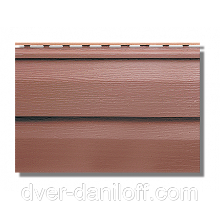 Сайдинг акриловый Альта-Профиль KANADA Плюс Премиум двухпереломный 3660х230х11 мм красно-коричневый, фото 2