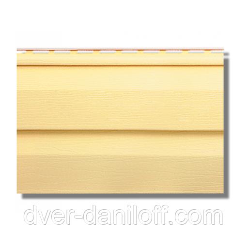 Сайдинг виниловвй Альта-Профіль KANADA Плюс Престиж двухпереломний 3660х230х11 мм жовтий
