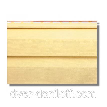 Сайдинг виниловвй Альта-Профіль KANADA Плюс Престиж двухпереломний 3660х230х11 мм жовтий, фото 2