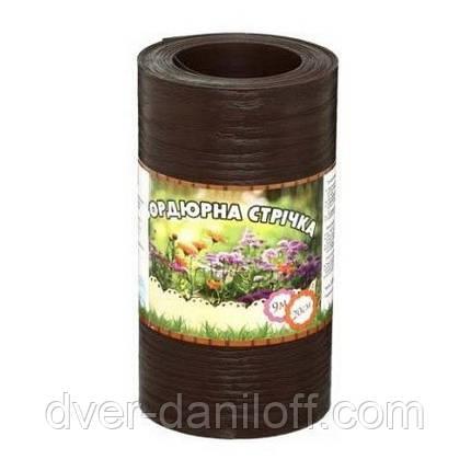 Газонный бордюр, бордюрная лента Альта-Профиль с перфорацией 0,65х150х9000 мм коричневый, фото 2