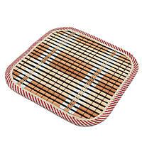 Подставка под горячее бамбуковая соломка квадратная 17х17 см бежево-черная (42802.003)