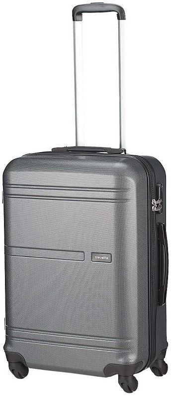 Средний пластиковый чемодан Travelite Yamba серый 61 л