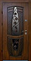 Купить входные двери со стеклом и ковкой