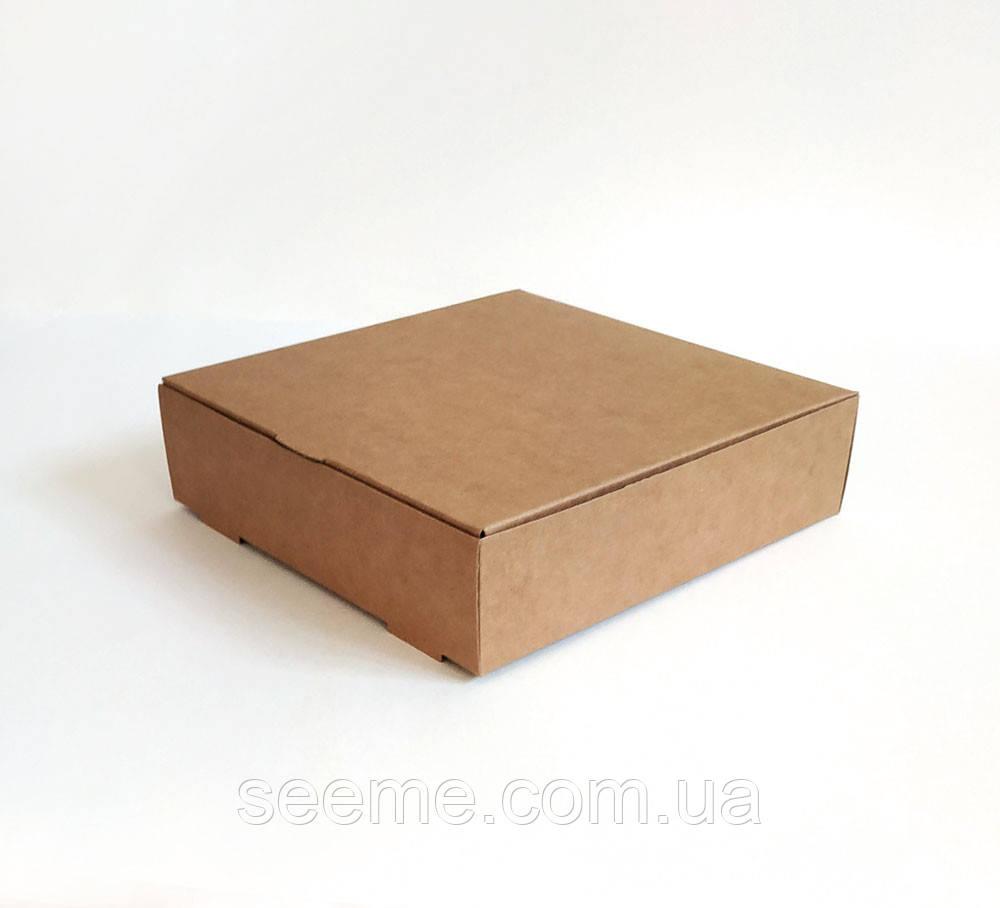 Коробка из крафт картона, 200х200х50 мм.