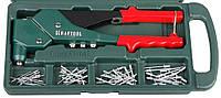 Заклепочник для стальных и алюминиевые заклепок поворотный 360° литой усиленный в боксе KRAFTOOL 31176-H6