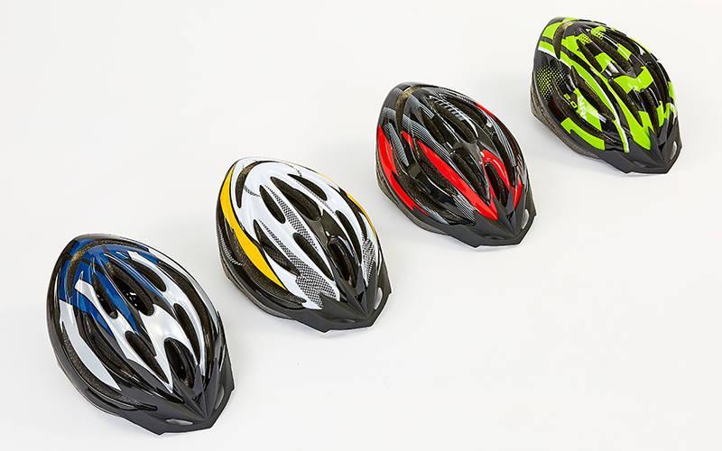 Велошлем кросс-кантри с механизмом регулировки Zelart (EPS,пластик, PVC, L-M (55-61)) Черный M (55-58) PZ-HB13_1