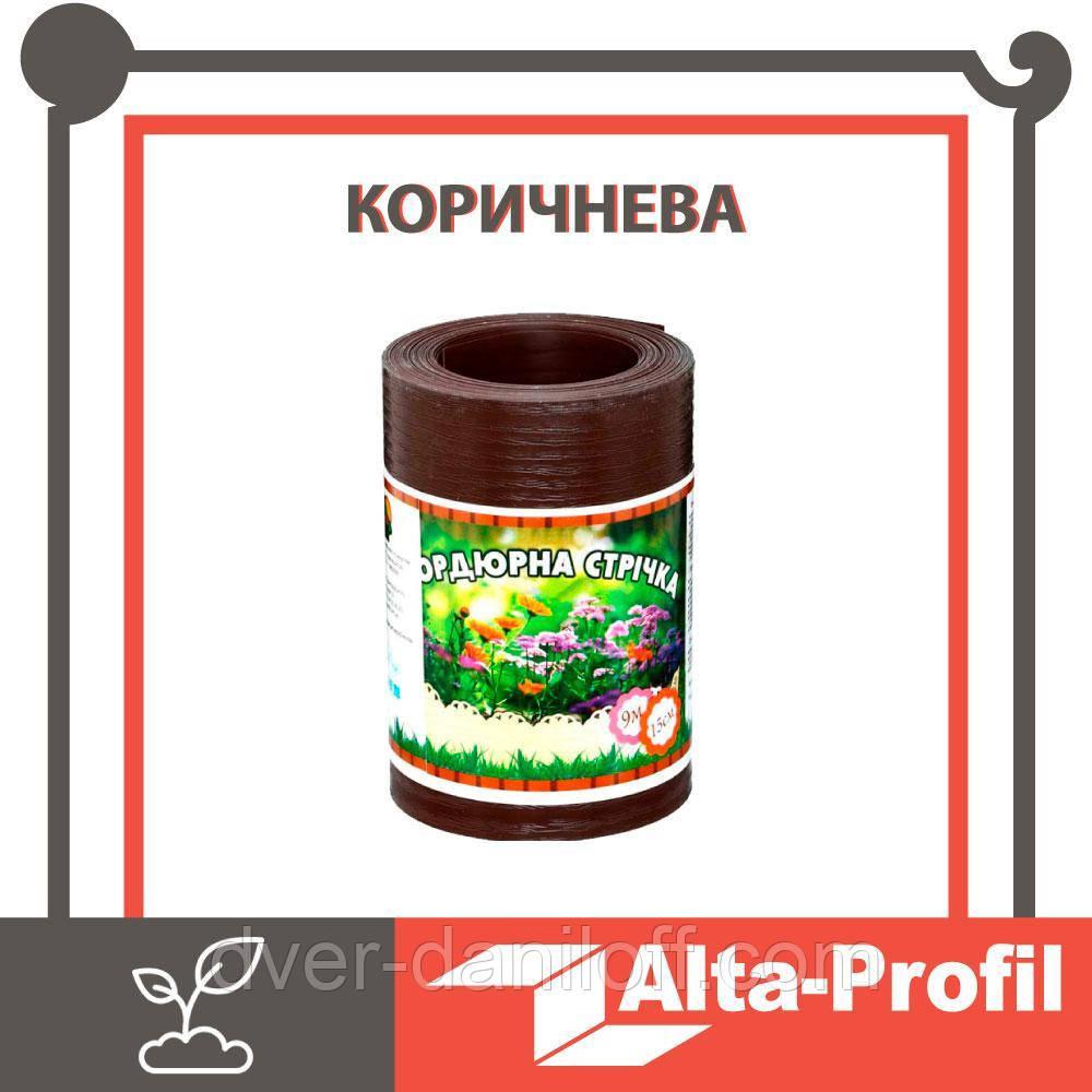 Декоративная бордюрная лента для клумб Альта-Профиль  0,65х150х9000 мм коричневый