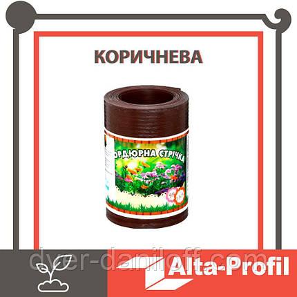 Декоративная бордюрная лента для клумб Альта-Профиль  0,65х150х9000 мм коричневый, фото 2