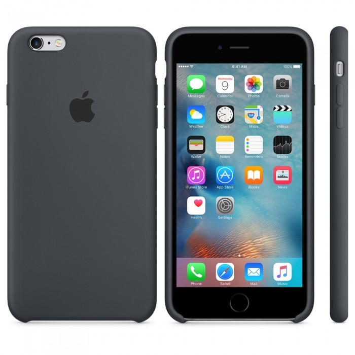 """Apple silicon case iPhone 6,6s Plus """" Charcoal Gray"""""""