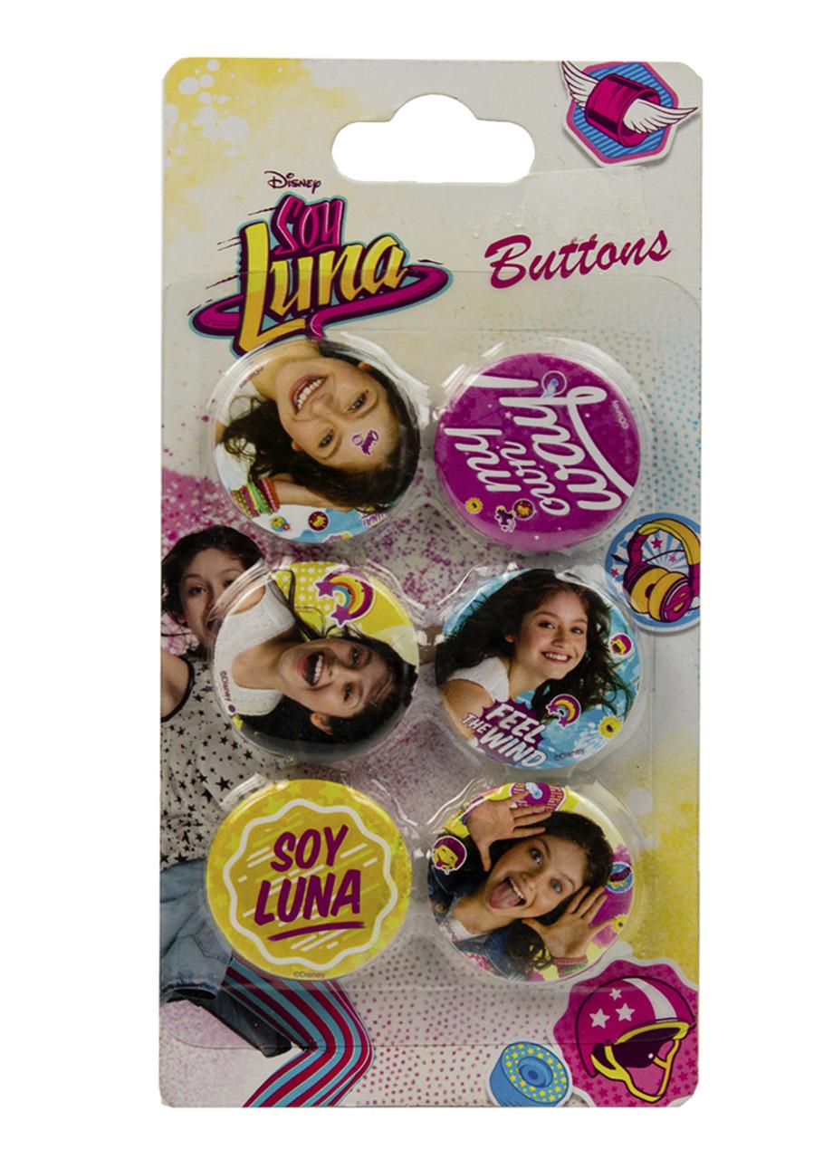 "Набор значков на одежду ""Soy Luna"" (6шт) Disney 3х3см"