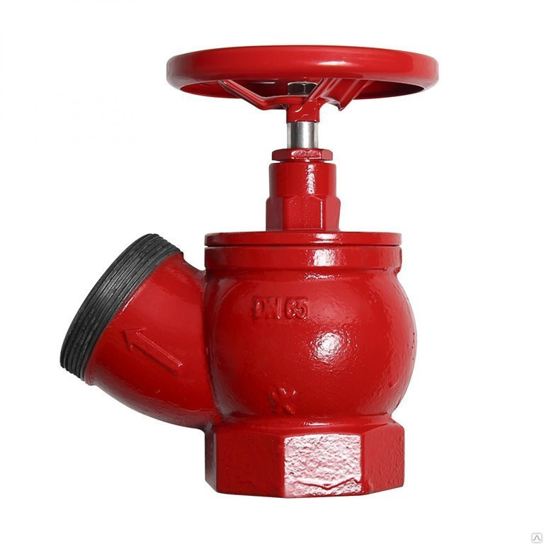 Пожарный кран ДУ-50 чугунный угловой