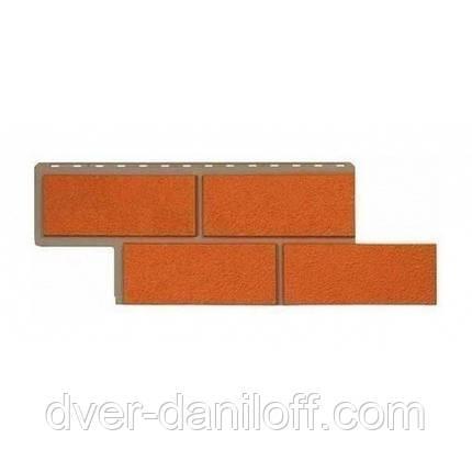 Фасадна панель Альта-Профіль Камінь Неаполітанська 1250х450х26 мм теракотовий, фото 2