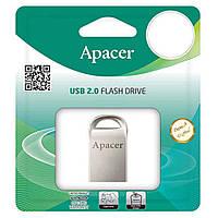 Модуль FD 16GB APACER AH115, міні - метал, Silver, USB 2.0 (AP16GAH115S-1)