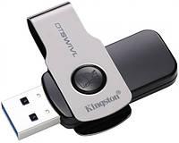Модуль FD 128GB Kingston DT SWIVL Metal USB 3.0 (DTSWIVL/64GB), Read -100 МБ/с, Write -30МБ/с