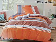 Сатиновое постельное белье полуторное ELWAY 5041 «Абстракция»
