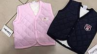 Жилетка для мальчика/девочки в розовом и синем цвете, на подкладке из махры, размер 74 - 92 см