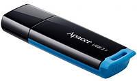 Модуль FD 64GB APACER AH359 USB 3.1 (AP64GAH359U-1) BLUE, пластик, чорний, з ковпачком
