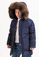 Куртка с меховым воротником на мальчика подростка, с 122-158 рост