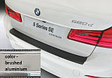 Пластиковая защитная накладка на задний бампер для BMW 5-series G30 2017+, фото 2