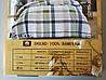 Сатиновое постельное белье полуторное ELWAY 5045 «Геометрическая клетка», фото 3