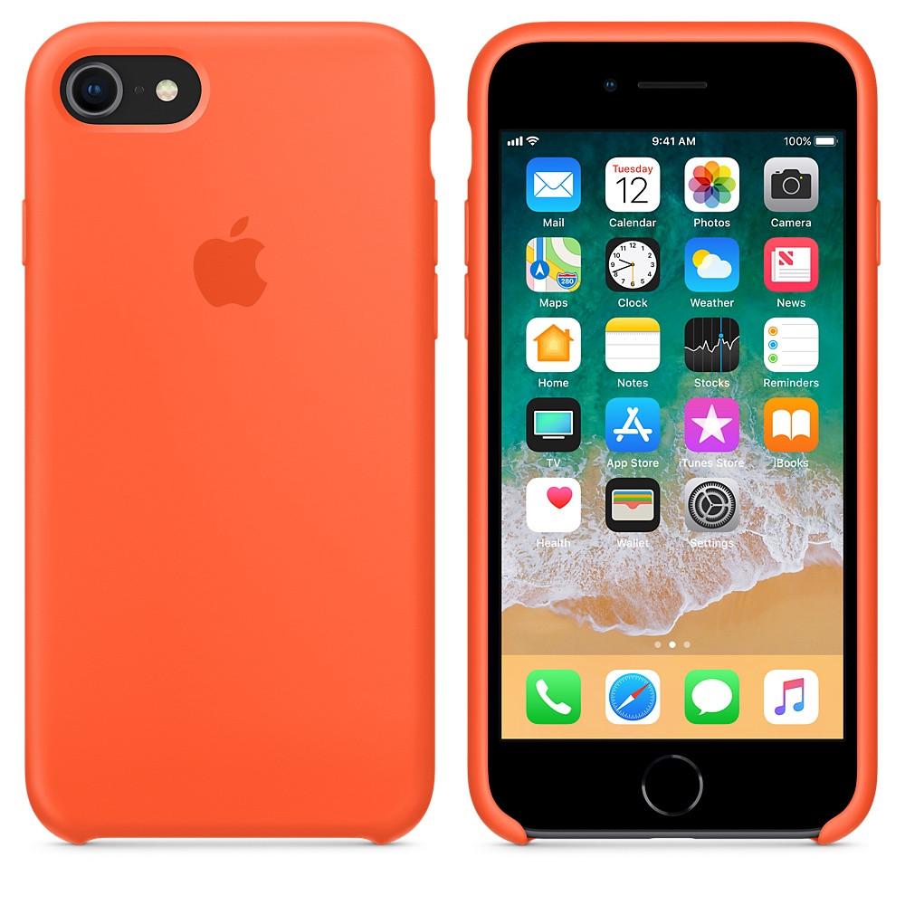 "Apple silicon case iPhone 7/ iPhone 8  ""Orange"""