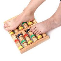 Массажер для ног деревянный