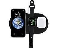 Зарядное устройство Qitech AirPower 3 в 1 Gen 2 для Apple Watch с технологией QI Fast Charge цвет черный, фото 1