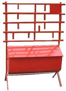 Стенд пожарный открытого типа с опрокид. ящиком
