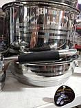 Набір посуду для кухні German Family (12 предметів) силіконові ручки, фото 3