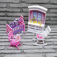 """Мебель для кукол """"Глория"""". Детская комната. Мебель для Барби."""