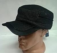 Кепка мужская ( Немка ) из полушерстяной ткани на флисе черный 414а/11.5, 56 размер Италия Эллипс