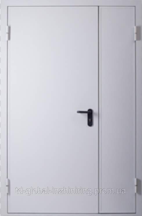 Двери противопожарные El-30/60 огнестойкие двухстворчатые 1260*2050