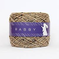 Пряжа с шерстью твид RABBY Alice коричневая 50г